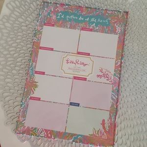 Lilly Pulitzer List Pad in Scuba to Cuba 60 sheets